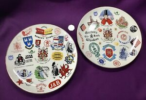 Two Rare Wade Apprentice / Salesman Plates - Breweriana / Geographic Interest