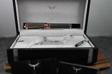AUTHENTIC! Tibaldi by Montegrappa New York Black & Rose Gold Fountain Pen
