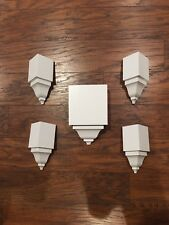 """Crown Molding Corners 5 Blocks (4) Insides (1) Mid transition For 3 5/8"""" Crown!"""