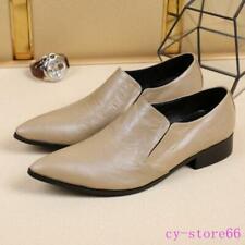 Moda Cuero Real de Hombre Puntera Puntiaguda Vestido Formal Boda Zapatos británica de negocios