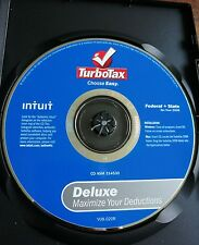 2008 TAX YR INTUIT TURBOTAX DELUXE FEDERAL RETURNS e-FILE NO STATE