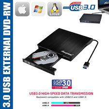 USB3.0 DVD/CD-RW Lecteur Graveur Externe Drive Burner Portable pour PC Notebook