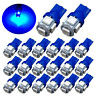 20x Ultra Blue T10 LED Bulbs Car Interior License Light 2825 192 194 5050 5 SMD