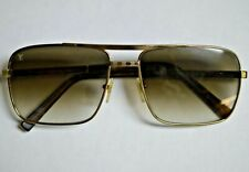 Louis Vuitton Men's Attitude Brown and Gold Sunglasses Z0259U
