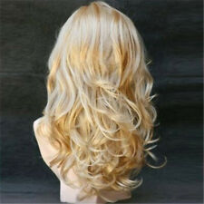Women Bangs Hair Full Water Wave Curly Wig Synthetic Cosplay Party Hair Wigs