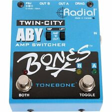 Radial Engineering Bones Twin City ABY Amp Switcher Pedal NEW Free 2Day Delivery