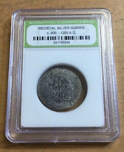 900-1200 AD MEDIEVAL SILVER COIN!