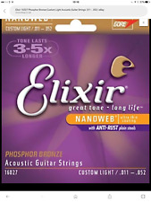 Elixir 16027 Phosphor Bronze Custom Light Acoustic Guitar Strings .011 - .052