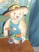 Steiff Farmer Overall Dressed Up Bear 12 Inch German Exclusive? Tag is German