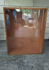 Vintage Wood Frame Shadow Box Curio Miniature Display Case w/Glass Keepsake