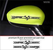 ABARTH 595 PISTA competizione 10 YearCast Vinyl Decals Stickers x 2