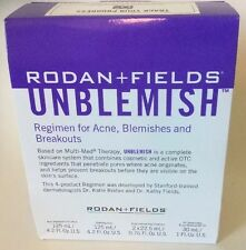 Rodan and Fields UNBLEMISH Regimen for Acne, Blemishes & Breakouts NEW n SEALED