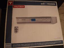 Trutech Under Cabinet Space Saving Kitchen CD + Radio Player w Remote & Hardware