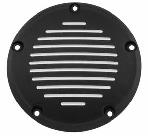Biker's Choice Derby Cover Domed Style 5 Hole Grooved Black 302823