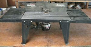 Craftsman router table w/ extensions + older Craftsman router (315.17371)