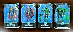 McFarlane Toys DC Comics Multiverse 4 Figure Lot Green Lantern Superman Bizarro
