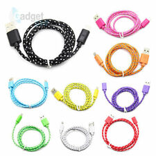 STRONG BRAIDED Sync Data Cable USB Charger for iPhone 5, 5S 5G iPad 4 & Mini