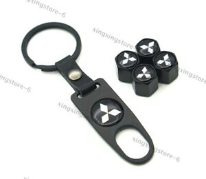 Car Keychain For Mitsubishi Styling Logo Wheel Tire Valve Caps Air Valve Covers