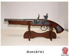 Solid Wooden Pistol Display Gun Stand made of Denix - Spain New