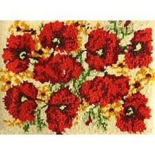 "Latch Hook Rug Kit - Poppies 27""X20"""