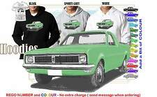 69-70 HT HOLDEN UTE HOODIE ILLUSTRATED CLASSIC RETRO MUSCLE SPORTS CAR