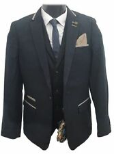 Patternless Blazers Classic Single Suits & Tailoring for Men