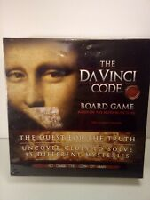 The DaVinci Code Board Game SEALED in original plastic. Plastic is loose on back