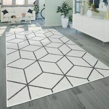 Wohnzimmer-Teppich, Kurzflor Skandinavischer Stil Rauten-Muster, In Weiß