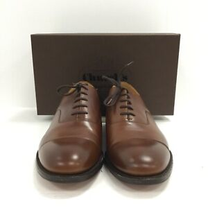 Church's Brogue Shoes Mens UK 10  Brown Leather Lace Up Formal Boxed 022217