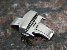 22MM Deployment Buckle Double Clasp BRUSHED Stainless Steel