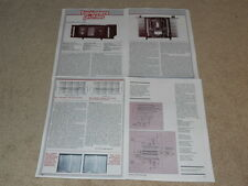 Threshold STASIS 3 Amplifier Review, 4 pg, 1980, Specs