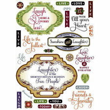 JustRite - Clear Acrylic Stamps - Live Love Laugh Vintage Labels Two - BNIP