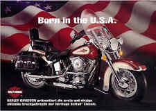 Franklin MINT Harley Davidson Heritage Pubblicità publicity, Flyer, SUPPLEMENTO PUBBLICITARIO
