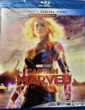 "Captain Marvel (Blu-Ray + Digital Code) 2019 DVD ""SEALED"""