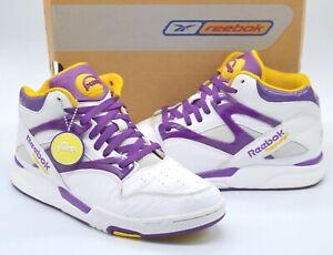 Rare Reebok Pump Omni LA Lakers White/Purple/Gold Retro sz 9.5 Los Angeles w/box