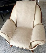 Seat Cover Wave Look Beige Chair Cushion Throw Seat Cushion 100% Wool