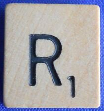 Scrabble Tiles Replacement Letter R Natural Wooden Craft Game Piece Part