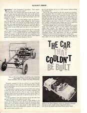 1961 KING MIDGET ~ ORIGINAL 2-PAGE ARTICLE / AD