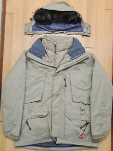 Mens The North Face Double Down Brown Snow Hood Jacket ×2 Size Large