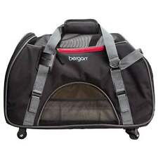 DOG CARRIER ON WHEELS Airline Approved Rolling Pet Carrier Travel Bag Bergan new