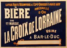 BIERE LA CROIX DE LORRAINE, France, date unknown, 250gsm A3 Poster