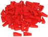 LEGO LOT OF 100 RED 3 X 1 SLOPES SLOPED BRICKS PIECES BLOCKS
