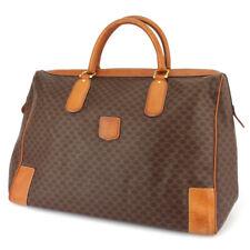CELINE Boston bag macadam PVC �~ leather Auth used T16577