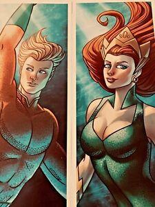 Aquaman & Mera Retro ArtPrint, Artist Alley