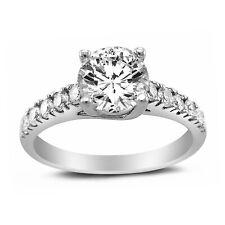 Tgw Round-cut Diamonette Engagement Ring 14k White Gold 1 1/3ct