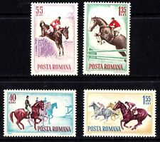Romania 1964 Horse Riding Complete Set of Stamps MNH
