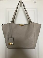 Burberry Light Gray Check Embossed Leather Small Canterbury Tote Bag