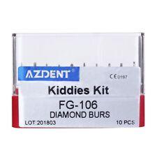 TOP Dental Diamond Bur Kiddies Kit Micro Preparation Child RED FG-106 10Pc/set