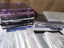 Lot of 80 Standard-Sized, Empty CD/DVD Jewel Cases, Paper, Plastic And  Booklets