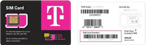5G T-MOBILE NEWEST SIM CARD FITS ALL PHONES BRAND NEW  NANO/MICRO/STANDARD